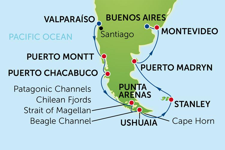 Day Cruise To South America From Valparaiso With Norwegian Sun - Cruise to south america