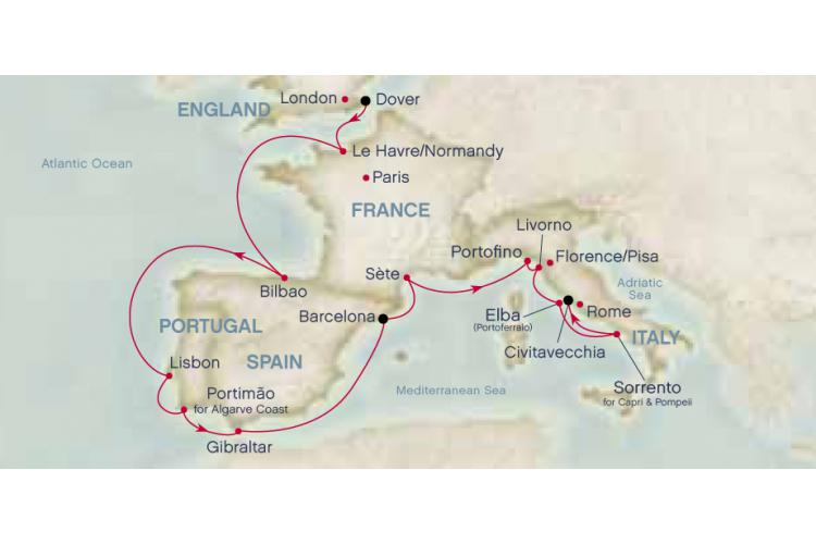 7 Days Mediterranean Aegean From Athens To Barcelona With Princess Cruises